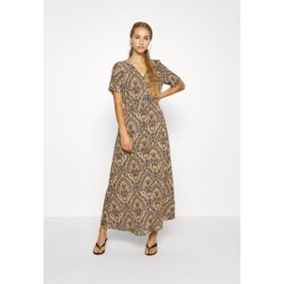 オンリー レディース ワンピース トップス ONLHANNA S/S ANCLE DRESS WVN - Maxi dress - gold gold