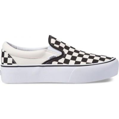 ヴァンズ Vans レディース スリッポン・フラット シューズ・靴 Classic Slip-On Platform Shoes Black/White Checker