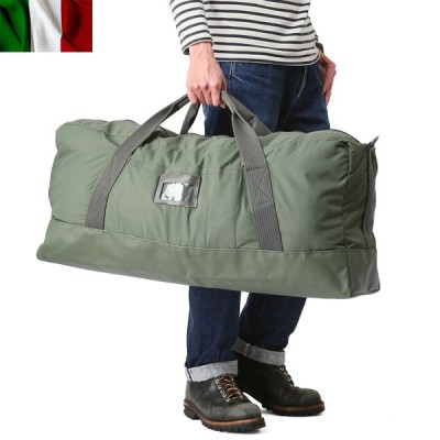 実物 新品 イタリア軍 ボストンバッグ デッドストック メンズ ミリタリーバッグ ダッフルバッグ 大容量 軍用 放出品【Sx】