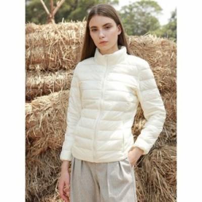 ダウンジャケット ダウンコート 安い 可愛い レディース アウター コート ジャケット スリム 無地 防寒 シンプル 軽量