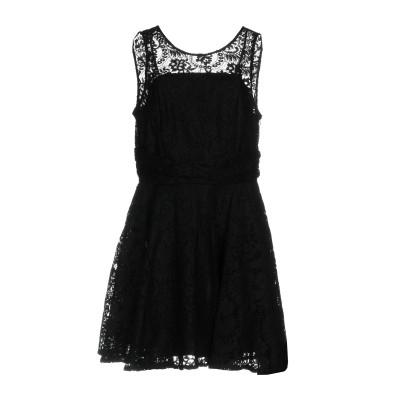 NO SECRETS ミニワンピース&ドレス ブラック 40 ナイロン 100% / ポリエステル ミニワンピース&ドレス