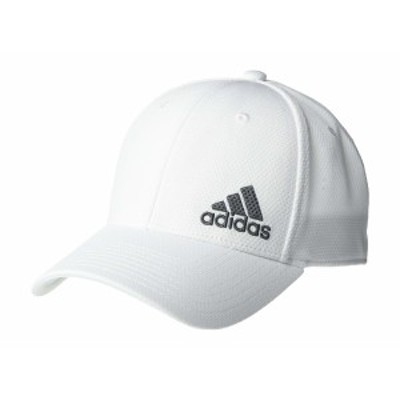 アディダス メンズ 帽子 アクセサリー Release II Stretch Fit Structured Cap White/Onix