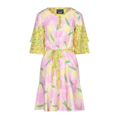 BOUTIQUE MOSCHINO ミニワンピース&ドレス ピンク 36 コットン 100% / シルク ミニワンピース&ドレス