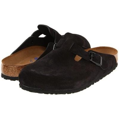 ビルケンシュトック Boston Soft Footbed (Unisex) メンズ クロッグ ミュール Black Suede