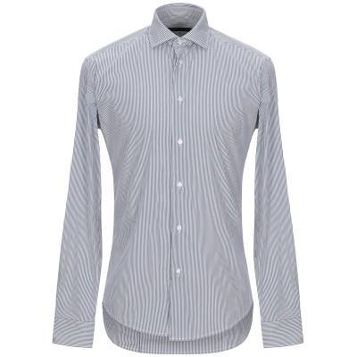 ブライアン デールズ BRIAN DALES シャツ ダークブルー 39 コットン 80% / ナイロン 15% / ポリウレタン 5% シャツ