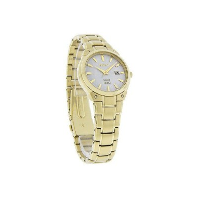 腕時計 セイコー Seiko ソーラー レディース MOP ゴールド トーン ブレスレット 腕時計 SUT130