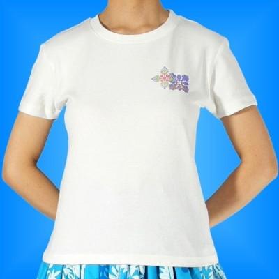 フラダンス Tシャツ M キルト バック ホワイト 553mw