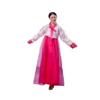 韓国 民族衣装 チマチョゴリ ☆ 豪華 オシャレ コスプレ パーティードレス (ピンク)