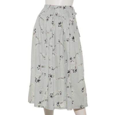 natural mist (ナチュラルミスト) レディース 花柄スカート ミント F