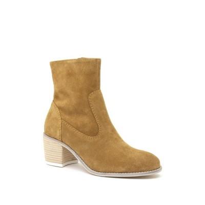 クレボ レディース ブーツ&レインブーツ シューズ Jade Suede Block Heel Boot SAND
