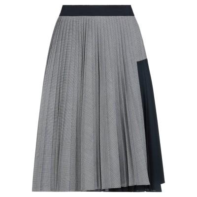 SPORTMAX ひざ丈スカート ダークブルー 38 ポリエステル 53% / バージンウール 43% / ポリウレタン 4% ひざ丈スカート