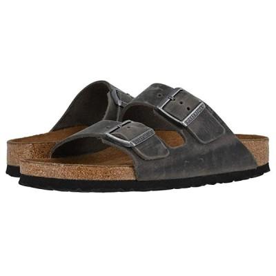 ビルケンシュトック Arizona Soft Footbed - Leather (Unisex) メンズ サンダル Iron