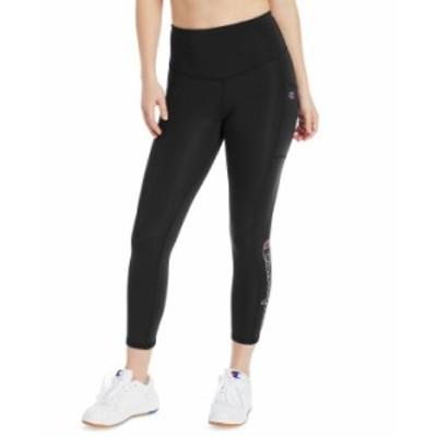チャンピオン レディース カジュアルパンツ ボトムス Women's Double Dry High-Waist Leggings Black