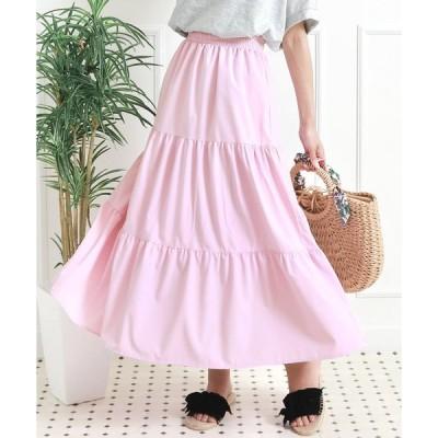 スカート ティアードカラースカート