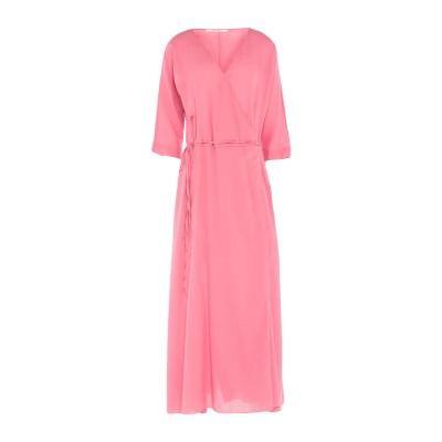 POMANDÈRE ロングワンピース&ドレス ピンク 38 コットン 100% ロングワンピース&ドレス