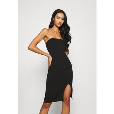 レディース ジャージドレス TUBE MINI DRESS - Shift dress - black