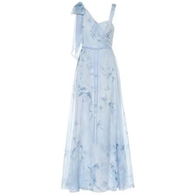 ノッテ バイ マルケッサ Marchesa Notte レディース パーティードレス ワンピース・ドレス Floral chiffon gown Light Blue