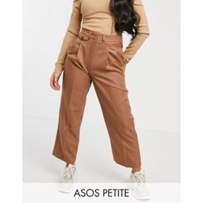 エイソス レディース カジュアルパンツ ボトムス ASOS DESIGN Petite ultimate mom pants Brown