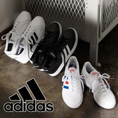 GeeRA 【adidas】GRANDCOURT アディダス ホワイト 24.0cm レディース