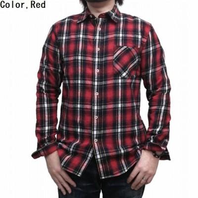 長袖シャツ チェック ネルシャツ レギュラーカラー シャツ m52-5050-1 M&S 普段着 贈り物 プレゼント アメカジ 商品入れ替え