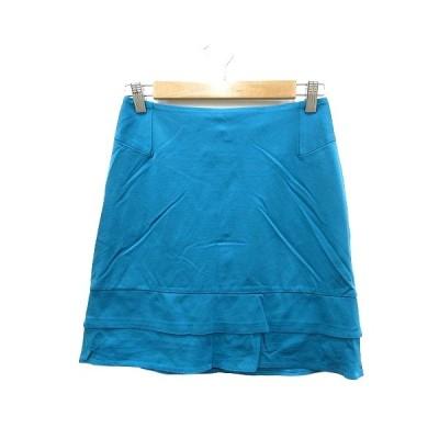 【中古】イネド INED ティアードスカート ミニ 9 青 ブルー /MN レディース 【ベクトル 古着】