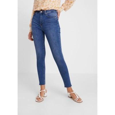 エヌ エー ケイ ディ デニムパンツ レディース ボトムス HIGH WAIST - Jeans Skinny Fit - mid blue