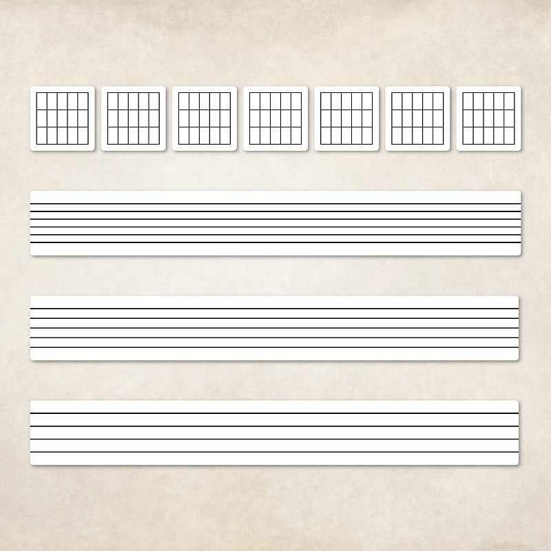 Guitar Player 和弦樂譜可書寫貼紙 六線譜 五線譜 四線譜 吉他