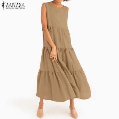 2020 カジュアル 袖無し タンク ドレス おしゃれ かわいい セクシー 大人