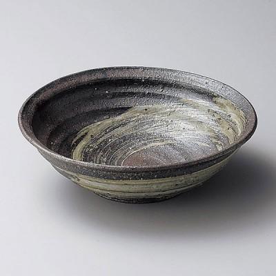 陶雅 灰刷毛目7.0鉢(信楽焼)