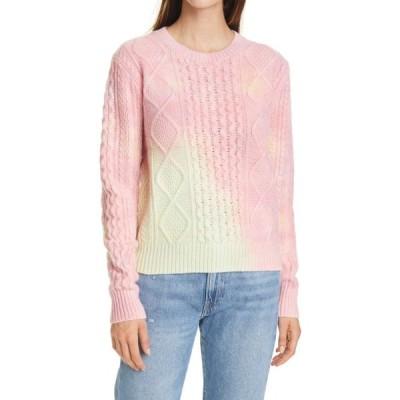 ラルフ ローレン POLO RALPH LAUREN レディース ニット・セーター ケーブルニット トップス Aran Cable Knit Wool Blend Sweater Tie Dye