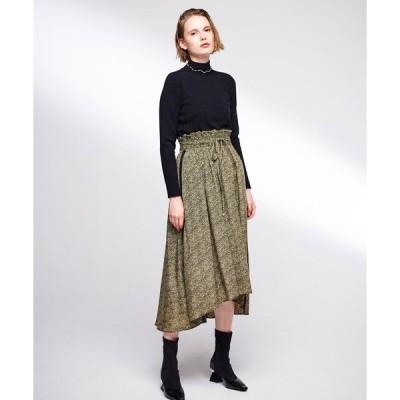 スカート 小花柄テールラインスカート