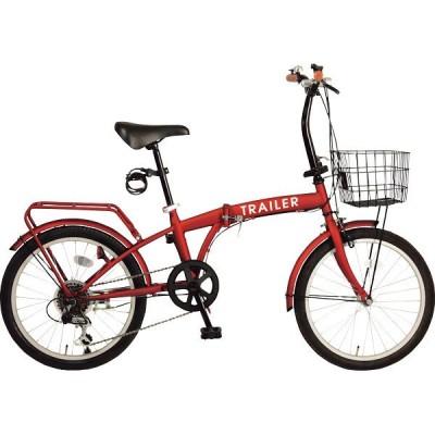 20型折りたたみ自転車(キャリア付) レッド GF-F20-RD