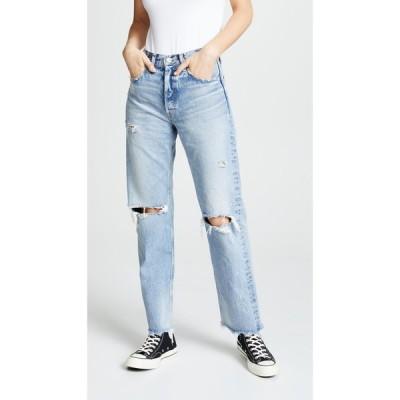 マウジー MOUSSY VINTAGE レディース ジーンズ・デニム ボトムス・パンツ MV Odessa Wide Straight Jeans Blue