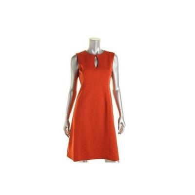 アンクライン ドレス ワンピース Anne Klein 4209 レディース オレンジ Ponte Keyhole ストレッチ Wear to Work ドレス 10 BHFO