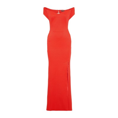 ZAC POSEN ロングワンピース&ドレス コーラル 4 レーヨン 80% / ナイロン 14% / ポリウレタン 6% ロングワンピース&ドレス