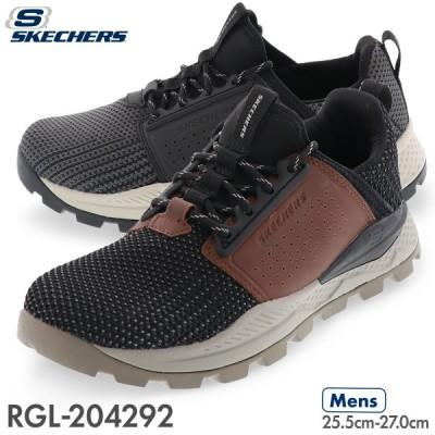 スケッチャーズ SKECHERS メンズ カジュアル スニーカー コンフォート シューズ リグレン RIGLEN 204292 ブラック・グレー / BKBR ブラック・ブラウン