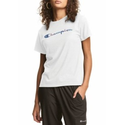 チャンピオン レディース Tシャツ トップス Classic Graphic T-Shirt WHITE