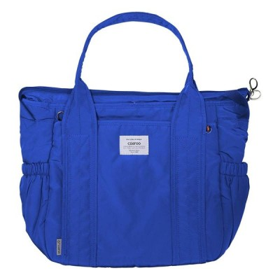 マザーズバッグ コアルー(coaroo) 持ち方5way (軽く持てる大容量ママバッグ) ニューラフィー リュック ブルー Lサイズ