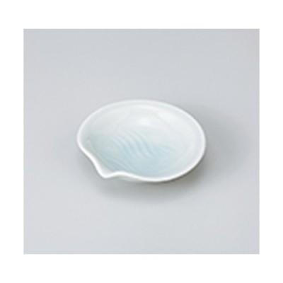 小皿 和食器 / 青白サザナミ片口3.5皿 寸法:10.5 x 10.5 x 2.8cm