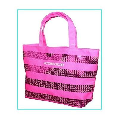 Victoria's Secret MINI Canvas Bling Sequins Hot Pink Purse Tote Handbag