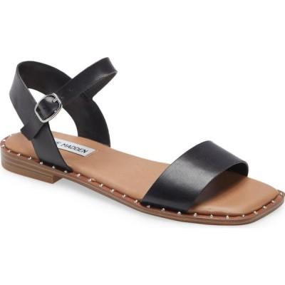 スティーブ マデン STEVE MADDEN レディース サンダル・ミュール シューズ・靴 Treated Sandal Black Leather