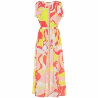 エミリオ プッチ Emilio Pucci Beach レディース ワンピース ワンピース・ドレス Printed cotton maxi dress Rosa/Lime