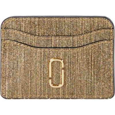 マークジェイコブス 財布 アクセサリー レディース Snapshot Glitter Stripe New Card Case Gold