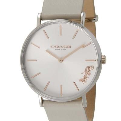 コーチ COACH 腕時計 レディース 14503116 PERRY ペリー シルバー×ライトグレー レザーウォッチ