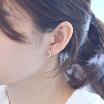 即納 イヤーカフ 18金 ダイヤモンド k18 18k ゴールド レディース 圧調整可能 片耳用 中折れ 日本製 刻印入り