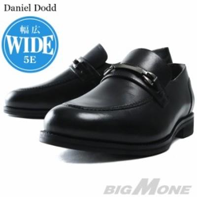 大きいサイズ メンズ DANIEL DODD 本革 ビット スリッポン ビジネス シューズ 5E azbs-199004