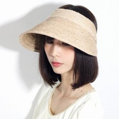 サンバイザー 婦人帽子 バイザー 麦わら帽子 春夏 日よけ