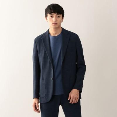 【EASY DRESSING】 麻調ストレッチ シングル2Bジャケット