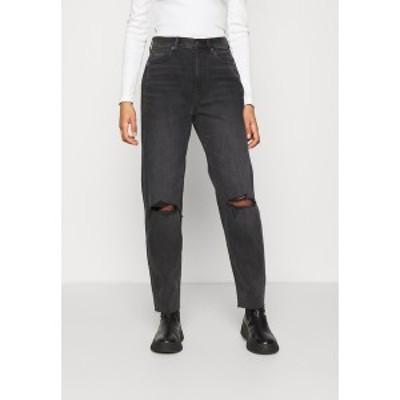 アメリカンイーグル レディース デニムパンツ ボトムス Relaxed fit jeans - rocker black rocker black