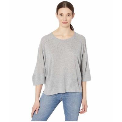 トリバル ニット&セーター アウター レディース Dolman 3/4 Sleeve Sweater Grey Mix
